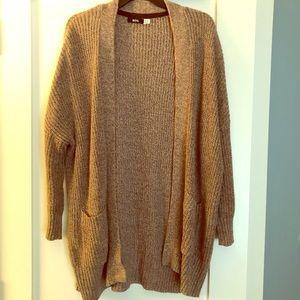 BDG tan colored robe cardigan sweater